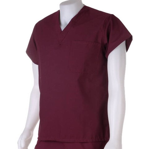 Medline Wine Unisex Reversible Scrub Top
