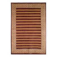 Safavieh Hand-knotted Tibetan Striped Multicolored Wool Rug - 6' x 9'