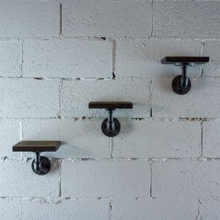 Furniture Pipeline Ames 3-Piece Farmhouse Industrial Decorative Wall Shelf
