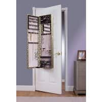 Gold Snake Over the Door Jewelry Armoire Mirror - N/A