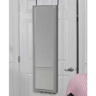 Houndstooth Over the Door Jewelry Armoire Mirror