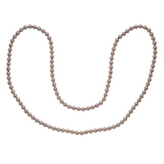 Sterling Silver Pink Bead 36 inch Necklace