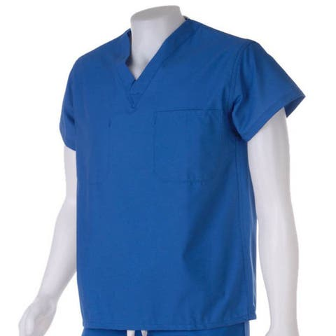 Medline Royal Blue Unisex Reversible Scrub Top