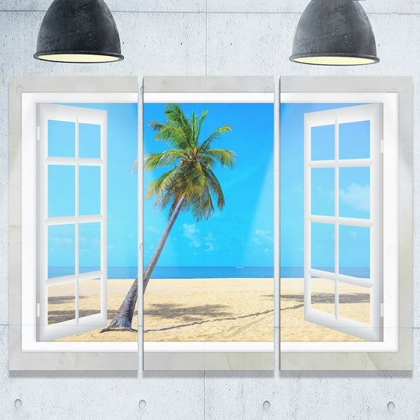 Shop Open Window to Beach with Palm - Extra Large Seashore
