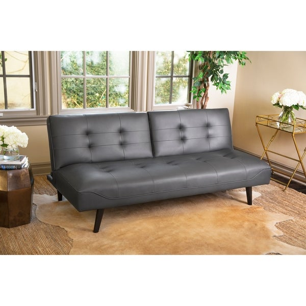 Abbyson Venice Bonded Leather Futon