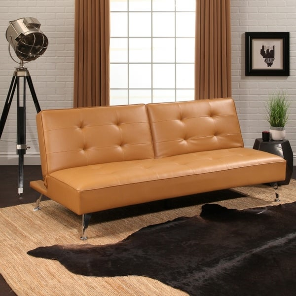 Shop Abbyson Tisdale Faux Leather Futon Bed - Free Shipping Today ...