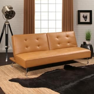 Abbyson Tisdale Faux Leather Futon Bed