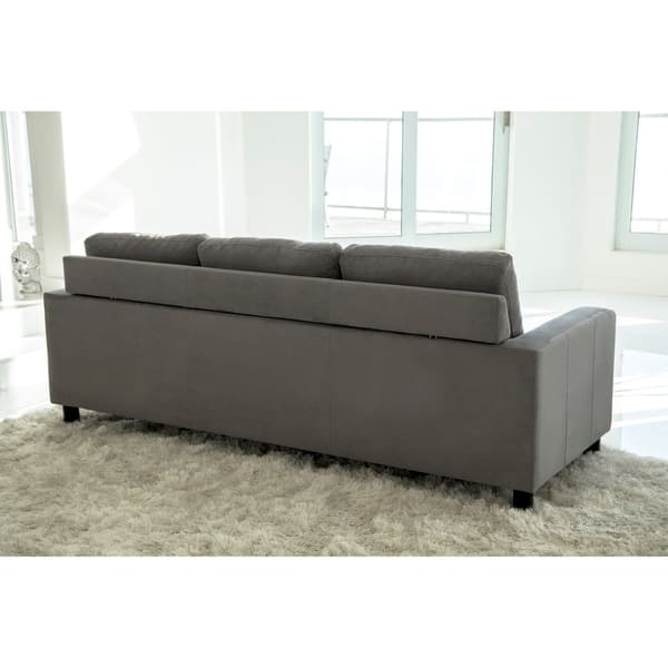 Superb Shop Abbyson Berkeley Reversible Sectional And Ottoman Inzonedesignstudio Interior Chair Design Inzonedesignstudiocom