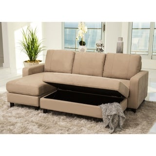 Abbyson Berkeley Reversible Sectional and Ottoman