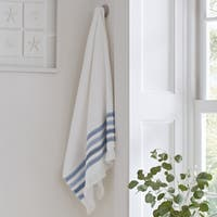 Five Queens Court Laney 100-percent Cotton Ombre Stripe Bath Towel with Fringe