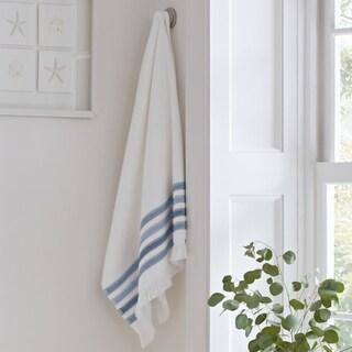 Five Queens Court Laney 100% Cotton Ombre Stripe Bath Towel with Fringe