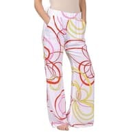Womens Circle Design Plazzo Pants White P120