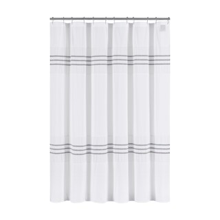 Five Queens Court Laney 100% Cotton Heather Stripe Shower Curtain (Option: Purple)
