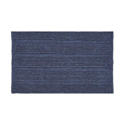 Five Queens Court Laney Plush Stripe No Skid Contemporary Bath Rug