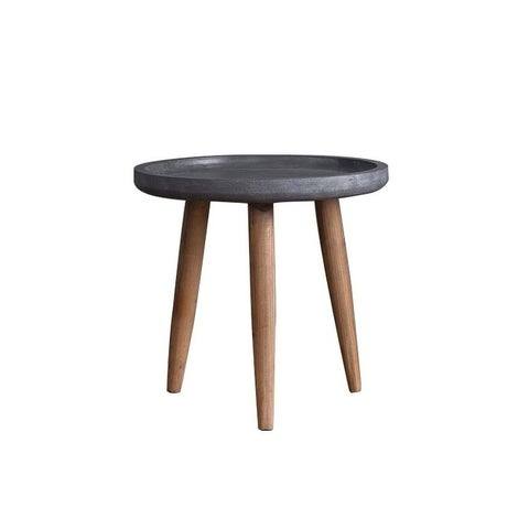Teton Home wooden Side/end table with round top AF-131