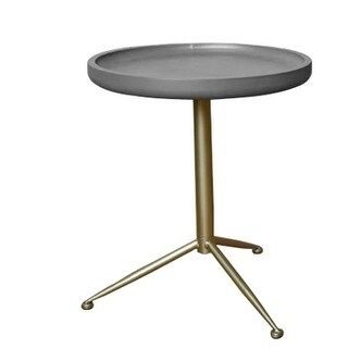 Teton Home wooden Side/end table with round top AF-127
