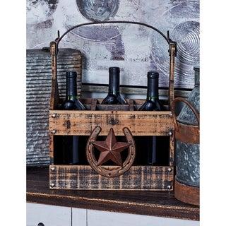 Farmhouse 6-Bottle Tabletop Wine Holder