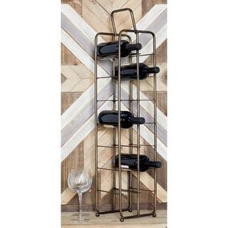 Contemporary 14-Bottle Iron Wine Storage Rack by Studio 350