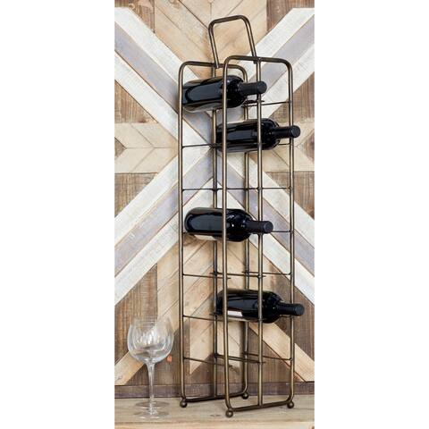 Contemporary 14-Bottle Iron Wine Storage Rack by Studio 350