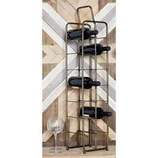 Contemporary 14-Bottle Iron Wine Storage Rack