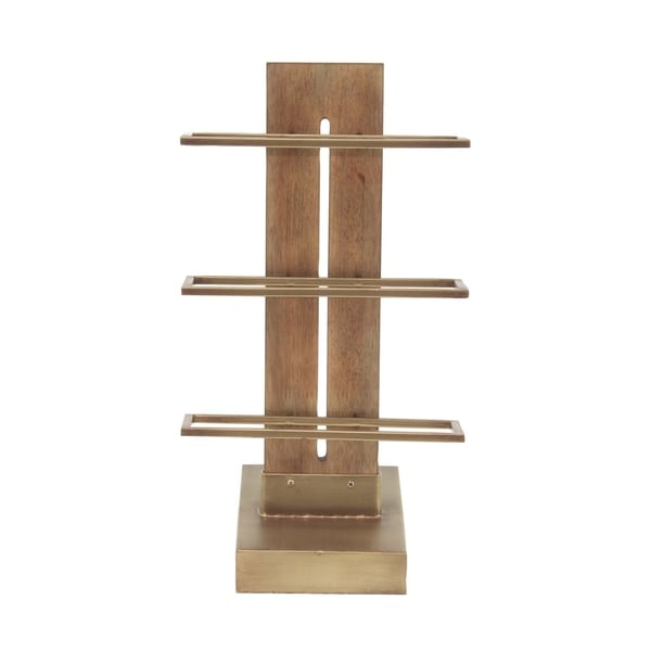 Clay Alder Home Perkinsville Contemporary 3-Tiered Wood and Metal Wine Storage Rack  sc 1 st  Overstock.com & Clay Alder Home Perkinsville Contemporary 3-Tiered Wood and Metal ...
