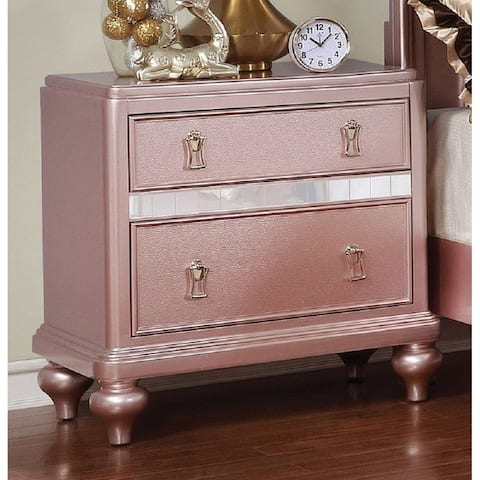 Silver Orchid Gibson Clarita Glam 2-drawer Nightstand