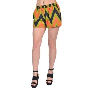 Tyche Womens Fashion Tribal Printed Shorts Green