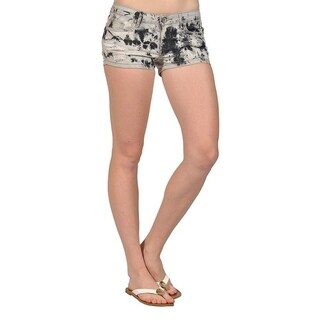 Women's High Fashion Womens Ripped Black and Gray Mini Shorts