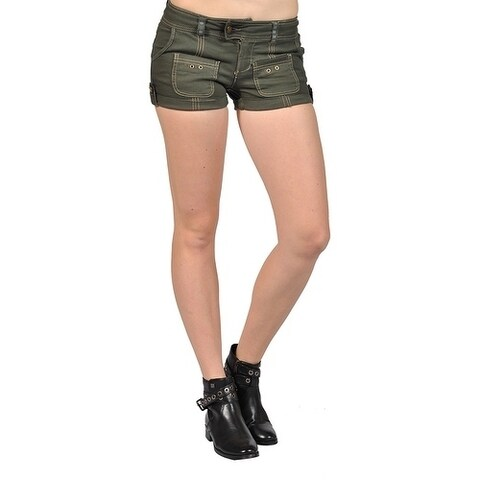 Junior's Low-Rise Shorts Olive High Fashion