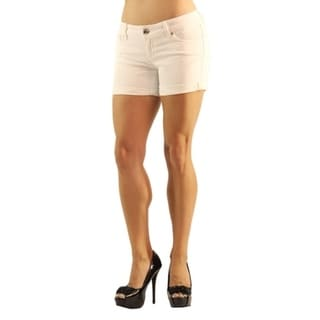 Dylan George Womens High Fashion Denim Mini Shorts White