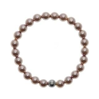 Round 8mm Pink Bead 7.5 inch Stretch Bracelet
