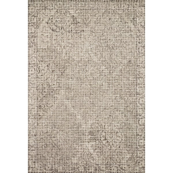 Damask Taupe Rug: Shop Hand-hooked Transitional Grey/ Taupe Damask Mosaic