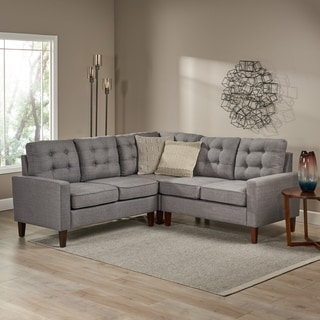 Nasir Mid Century Modern 3 Piece Sectional Sofa Set By Christopher Knight  Home
