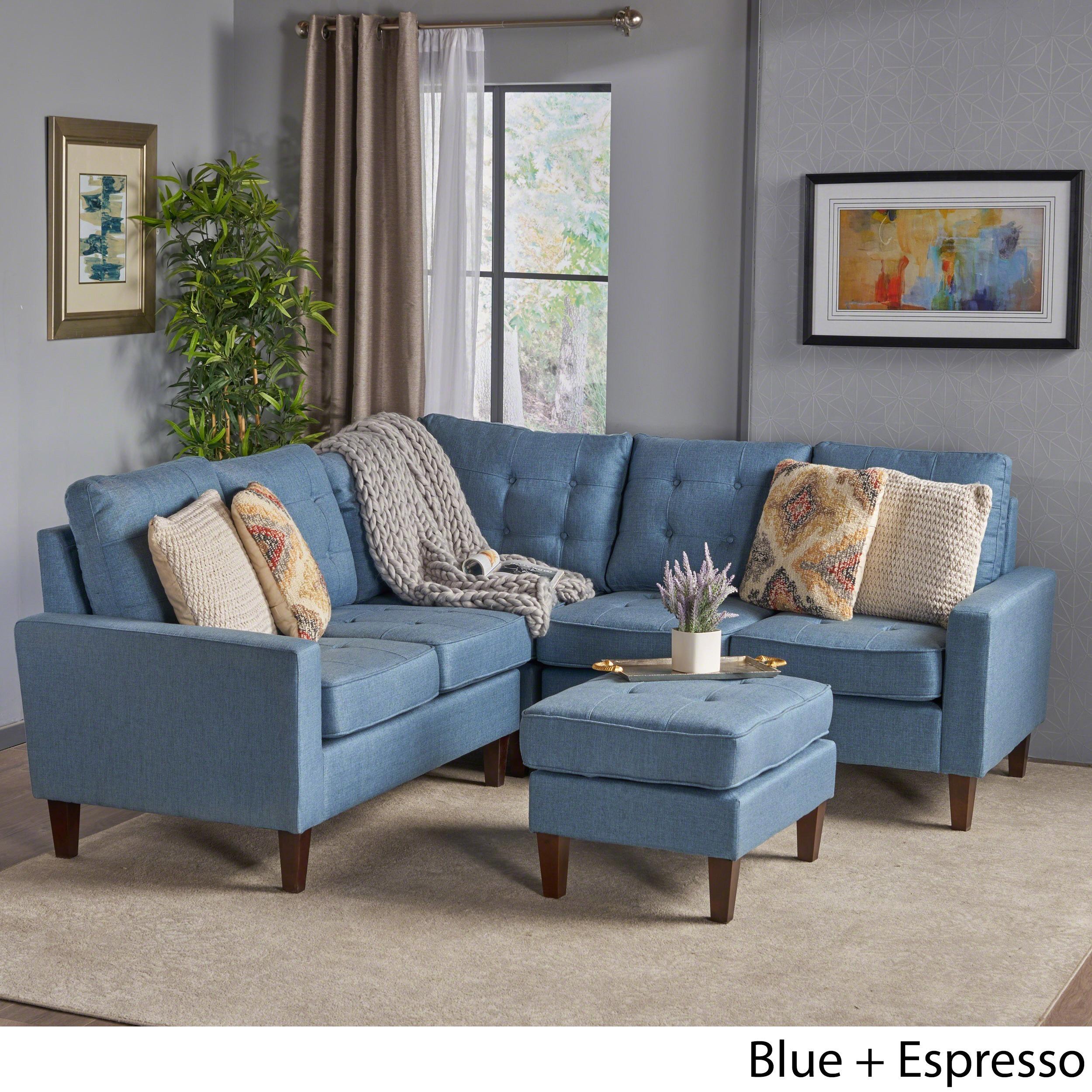 Remarkable Nasir Mid Century Modern 4 Piece Sectional Sofa Set By Christopher Knight Home Spiritservingveterans Wood Chair Design Ideas Spiritservingveteransorg