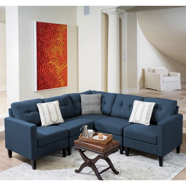 Brilliant Shop Emmie Mid Century Modern 5 Piece Sectional Sofa Set By Gmtry Best Dining Table And Chair Ideas Images Gmtryco