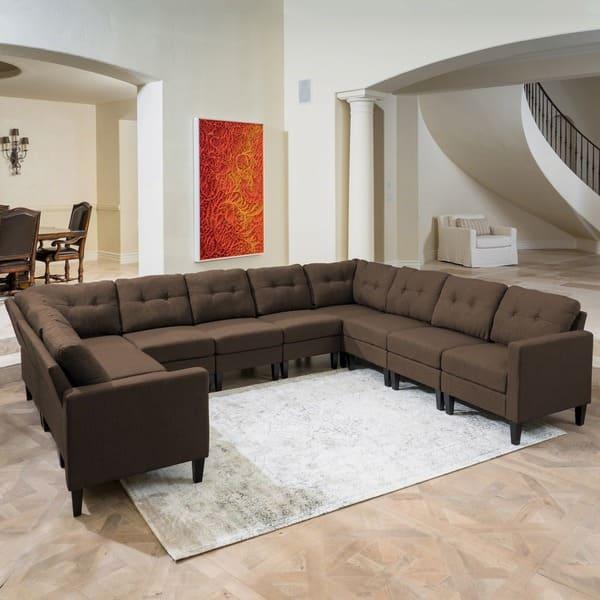 10 Piece U Shaped Sectional Sofa Set
