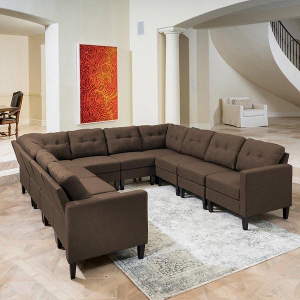 Shop Emmie Mid Century Modern 10 Piece U Shaped Sectional Sofa Set