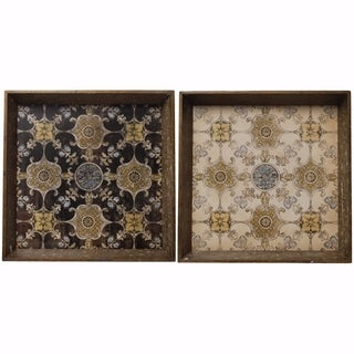 Beautiful Crafted Tray In Set of Two