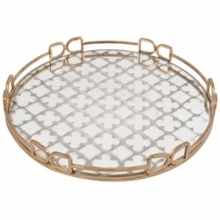 Notable Round Decorative Tray, Gold