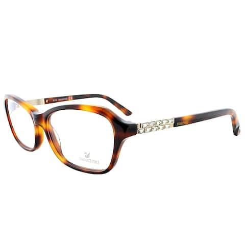 Swarovski Rectangle SK 5086 052 Women Dark Havana Frame Eyeglasses
