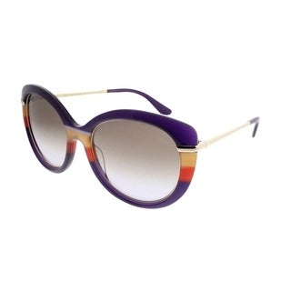 Salvatore Ferragamo Cat-Eye SF 724S 506 Women Violet Orange Frame Brown Gradient Lens Sunglasses