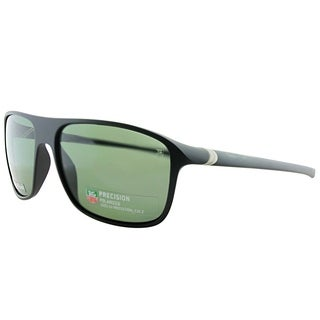 Tag Heuer Sport TAG 6041 TAG 27 301 Unisex Matte Black And Silver Frame Green Polarized Lens Sunglasses