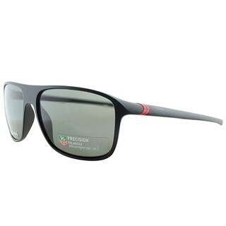 Tag Heuer Sport TAG 6041 TAG 27 909 Unisex Matte Black And Red Frame Grey Polarized Lens Sunglasses