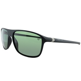 Tag Heuer Sport TAG 6023 TAG 27 301 Unisex Matte Black And Silver Frame Green Polarized Lens Sunglasses