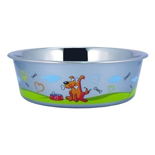 Sneaky Dog Design Stainless Steel Fusion Bowl Large By Boomer N Chaser