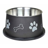 Paw Bone Print Steel Pet Bowl Fusion Spaniel  Boomer N Chaser