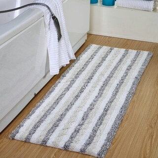 Ring-Spun Cotton Textured Extra Long Bath Rugs 22 x 66