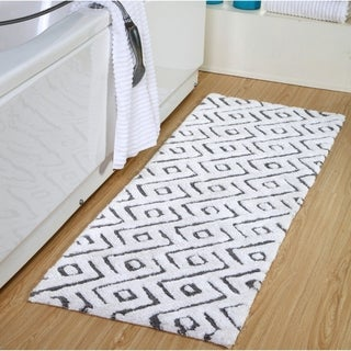 100 Percent Cotton Modern Extra Long Bath Rug 22 x 66