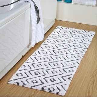 100 Percent Cotton Modern Extra Long Bath Rug 22 x 66
