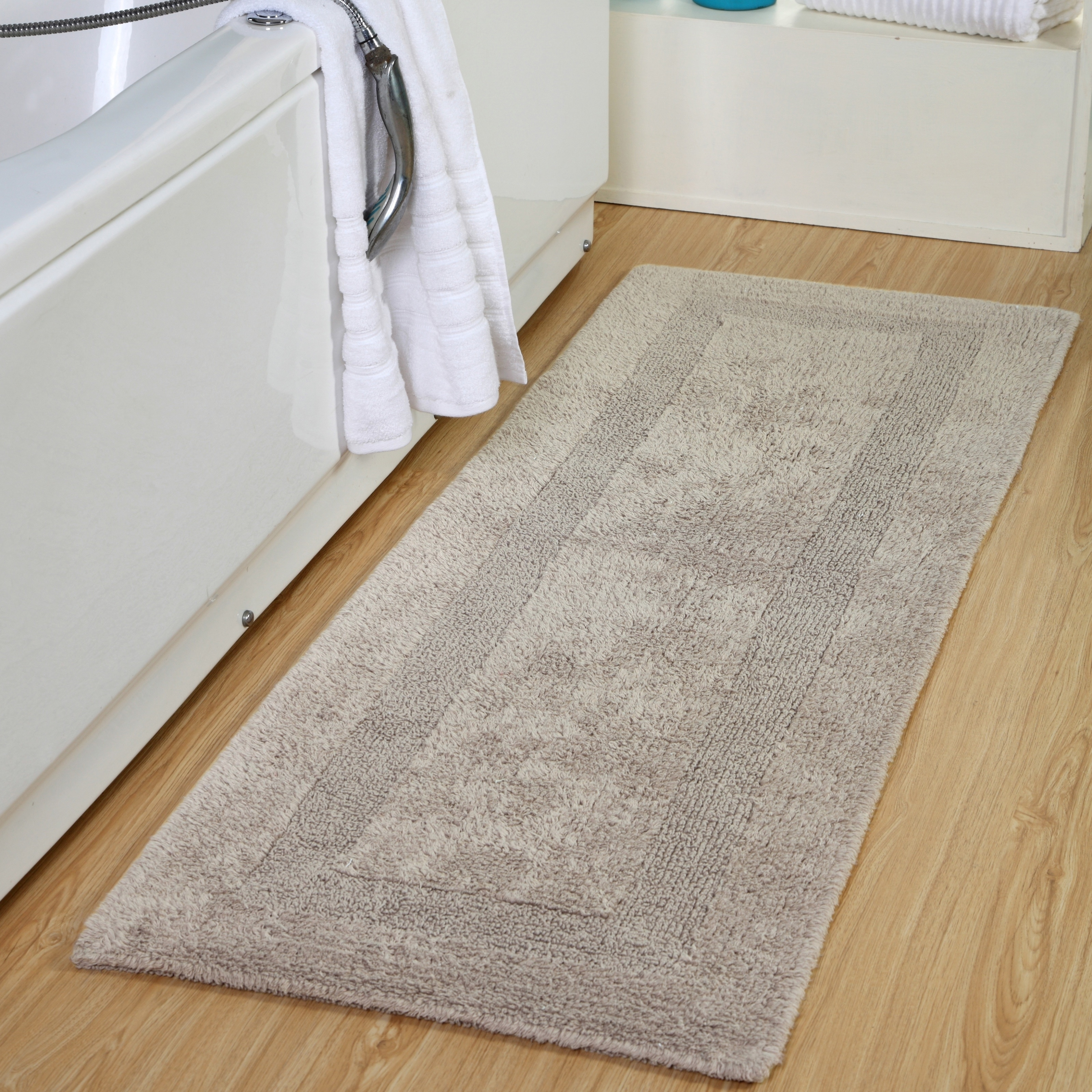 Cotton Luxuriously And Soft Reversible Extra Long Bath Rug 22 X 66 Overstock 19546699
